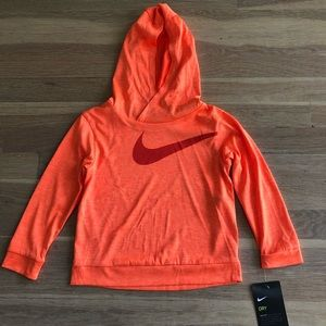 Boys Nike orange DriFit Sweatshirt size 3T NWT